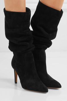 Gianvito Rossi - Suede Knee Boots - Black - IT35.5