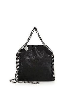 c658e6c7bf0d Stella McCartney Falabella Metallic Quilted Faux Suede Chain Clutch ...
