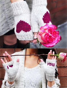 be my valentine fingerless gloves knitting pattern i heart you