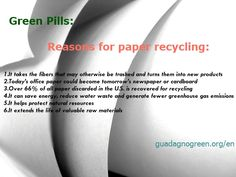 Reasons for Paper Recycling.