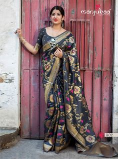 Manjubaa Lotus Series Traditional Indian Women Festive Fashion Formal Party Wear Saree Designer Attractive Look Occasionally Sari Collection Single Pieces Wholesale Supplier from surat - Full Catalog Price - INR Indian Designer Sarees, Designer Sarees Online, Indian Designer Wear, Indian Sarees, Pakistani, Festival Wear, Festival Fashion, Trendy Sarees, Soft Silk Sarees