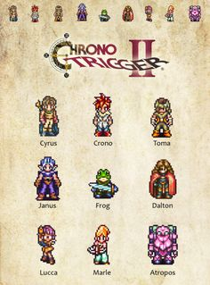 Some of the Chrono Trigger characters