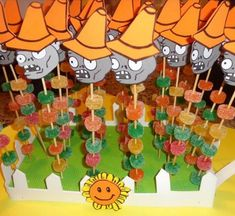 Zombie Birthday Parties, Leo Birthday, Zombie Party, Plants Vs Zombies, Balloon Decorations Party, Party Themes, Plantas Versus Zombies, Plant Zombie, Ideas Para Fiestas