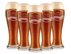 Groomsmen+Gift+5+Personalized+Beer+Glasses+by+UrbanFarmhouseTampa,+$52.00