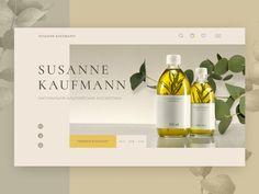 Online store of natural cosmetics Susanne Kaufmann (concept) by Margarita Radchenko Website Design Layout, Layout Design, Web Layout, Pag Web, Cosmetic Web, Web Banner Design, Presentation Layout, Website Design Inspiration, Site Internet