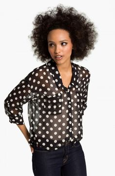 Free People Sheer Polka Dot Shirt available at Nordstrom Polka Dot Shirt, Polka Dots, How To Look Classy, Sheer Blouse, Free People Tops, Blouses For Women, Cute Outfits, Nordstrom, Style Inspiration