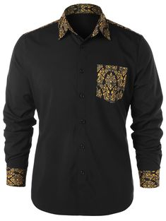 Ratoop Mens Henley Tunic Shirt Casual African Style Pullover Tops Traditional Long Sleeve Blouse Ethnic Print Sweatshirt