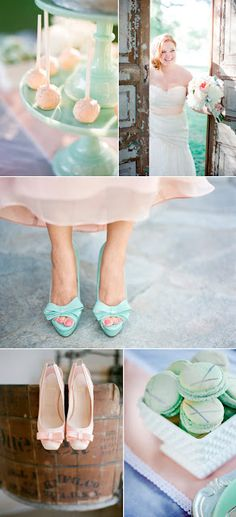 stylemepretty.com.  love the mint & peach shoes