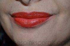 Maybelline Bold Mat 4 Review and Swatches, LOTD - Peaches Pinks Corals