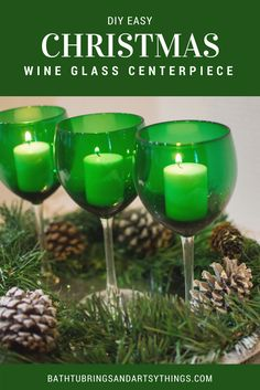 Learn an easy holiday decorating hack that will transform a room in minutes. This easy Christmas wine glass centerpiece looks elegant and is super easy! Christmas Wine, Christmas Gifts For Women, Christmas Candles, Christmas Centerpieces, Simple Christmas, Christmas Decorations, Holiday Decorating, Christmas Ideas, Decorating Ideas