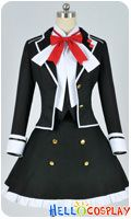 Diabolik Lovers Cosplay Yui Komori Black Uniform Costume Cotton Ver