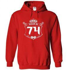 Made in 74 - Hoodie, t shirt, hoodies, t shirts - #gift ideas #gift for girlfriend. WANT THIS => https://www.sunfrog.com/Names/Made-in-74--Hoodie-t-shirt-hoodies-t-shirts-3520-Red-22746693-Hoodie.html?68278