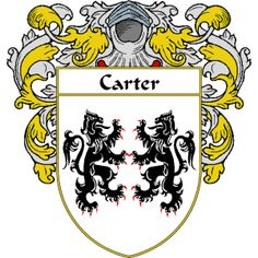 Carter Coat of Arms   namegameshop.com has a wide variety of products with your surname with your coat of arms/family crest, flags and national symbols from England, Ireland, Scotland and Wale