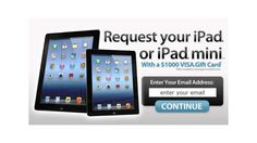 get-a-free-ipad-now by via Slideshare Visa Gift Card, Free Stuff, Ipad Mini, Giveaway, Cards, Gifts, Things To Sell, Products, Style