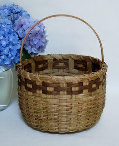 Round Basket-Gathering Basket-Storage Basket by JGBaskets on Etsy