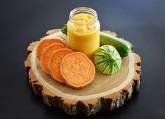 Sweet potato, zucchini and laughing cow cheese baby puree recipe (from 6 months) - Perfect baby food to start solid food introduction! Baby Puree Recipes, Pureed Food Recipes, Baby Food Recipes, 7 Months Baby Food, 6 Months, Wholesome Baby Food, Starting Solid Foods, Cow Cheese, Mash Recipe