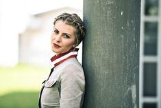 """Jacke Leinen """"Safari"""" - Mirabell Plummer Safari, Style, Fashion, Eagles, Mandarin Collar, Scale Model, Red, Summer, Jackets"""