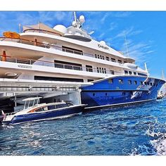 Mega Yacht 'CAKEWALK' & Tender Dockside in Monaco - Courtesy of @AceTheCloser cc: @CarolFeith | #TheLuxuryLifestyleMagazine
