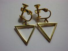 Ohrclips - Geometrische Ohrschrauben Teona - ein Designerstück von sibea bei DaWanda