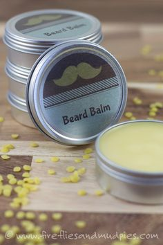 Cedarwood Beard Balm for Men. What a great DIY gift! | Fireflies and Mud Pies