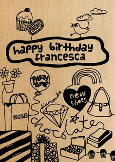 Girly doodles greeting card – personalise it on Scribbler.com/roisin-cafferty-cards :)