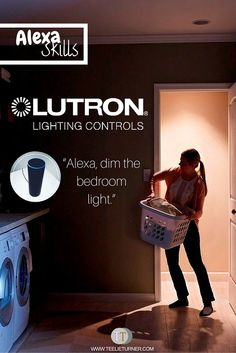 Alexa Skills: Lutron- www.theteelieblog.com Lutron's wireless dimmers and switches now work with Alexa. #alexaproducts