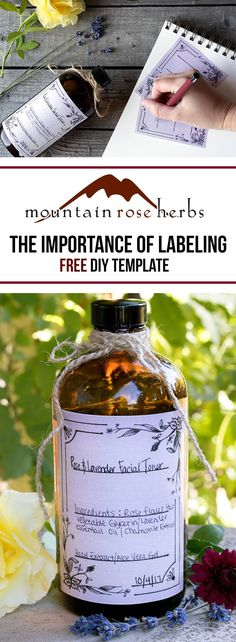 Tips on labeling handcrafted products and a FREE template from Mountain Rose Herbs!