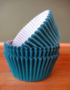 Teal Cupcake Liners - Set of 40 -  Teal Cupcake Wrappers
