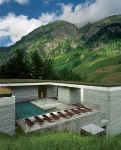 Thermal baths in Vals - Exterior