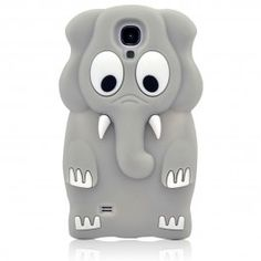 Grey Elephant Soft Rubber Case for Samsung Galaxy S4 i9500