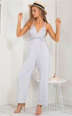 Pick And Choose Jumpsuit in Grey Marle | SHOWPO Fashion Online Shopping