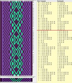 36 tarjetas, 3 colores, repite cada 32 movimientos // sed_566a diseñado en GTT༺❁