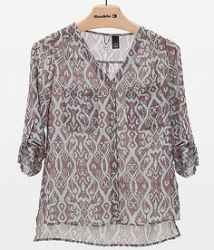 BKE Boutique Chiffon Shirt