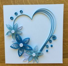 New Handmade Quilled valentine Cards - best valentine gifts - 5 Neli Quilling, Paper Quilling Flowers, Paper Quilling Cards, Quilling Work, Origami And Quilling, Paper Quilling Patterns, Quilled Paper Art, Quilling Paper Craft, Paper Crafts