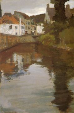 The Athenaeum - Canal Scene, Pont Aven (Richard Edward Miller - )