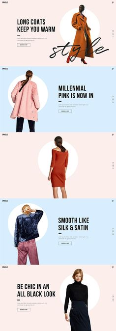 We've made Ophelie WordPress theme to fit the needs of everyone in the fashion business. Source by selectthemes clothing layout Lookbook Layout, Lookbook Design, Layout Design, Banner Design, Vintage Magazine, Email Design Inspiration, Fashion Banner, Email Marketing Design, All Black Looks