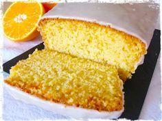 Budín de naranja con glaseado de naranja