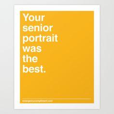 Senior Portrait Art Print by Emergency Compliment | Society6
