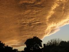 Wild blankets of clouds streaking toward the New Jersey horizon.