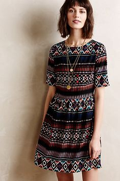 Anthropologie DIAMOND LAYER DRESS #anthrofave
