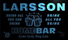 AdvPro Name q25478-b LARSSON Family Name Home Bar Beer Mug Cheers Neon Light Sign Great Gift for your dearest! Excellent for displaying in shops, bars, pubs, clubs, restaurants, game rooms and anywhere you like. With nearly 20 years of experience, ADV (Barcode EAN = 5053711254465) http://www.comparestoreprices.co.uk/december-2016-5/advpro-name-q25478-b-larsson-family-name-home-bar-beer-mug-cheers-neon-light-sign.asp