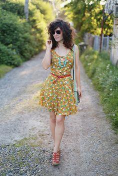summer mustard floral by Delightfully Tacky