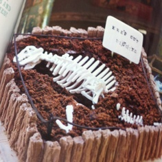 Dinosaur bone digging cake - Donna Hay kids magazine annual 9
