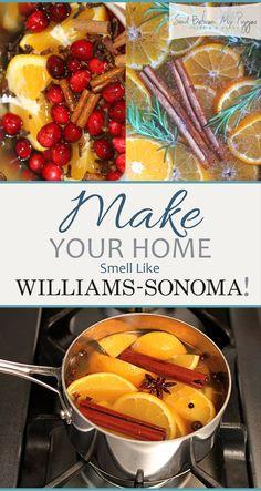 Williams Sonoma, Homemade Potpourri, Potpourri Recipes, Stove Top Potpourri, Simmering Potpourri, House Smell Good, House Smells, All You Need Is, Home Scents