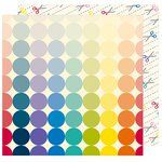 American Crafts - Box of Crayons Collection - 12 x 12 Double Sided Paper - Cut Here