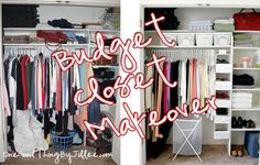 "Tips for a ""closet makeover"" on a budget!"