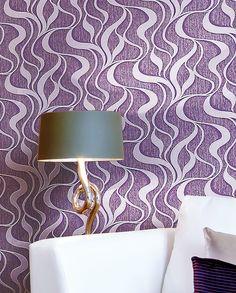 Modern behang neo behang EDEM 699-92 vliesbehang damast behang met abstracte lijnen paars lichtlila   10,65 qm XXL