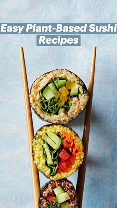 Vegan Sushi, Vegan Vegetarian, Vegetarian Recipes, Healthy Recipes, Sushi Recipes, Whole Food Recipes, Cooking Recipes, Plant Based Diet, Plant Based Recipes