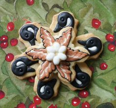 The 6th day of the 12 days of Christmas cookies - cookie decorating tuto...