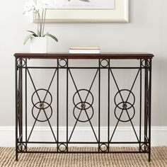 Shop for Safavieh Dustin Dark Brown Console Table. Get free shipping at Overstock.com - Your Online Furniture Outlet Store! Get 5% in rewards with Club O!